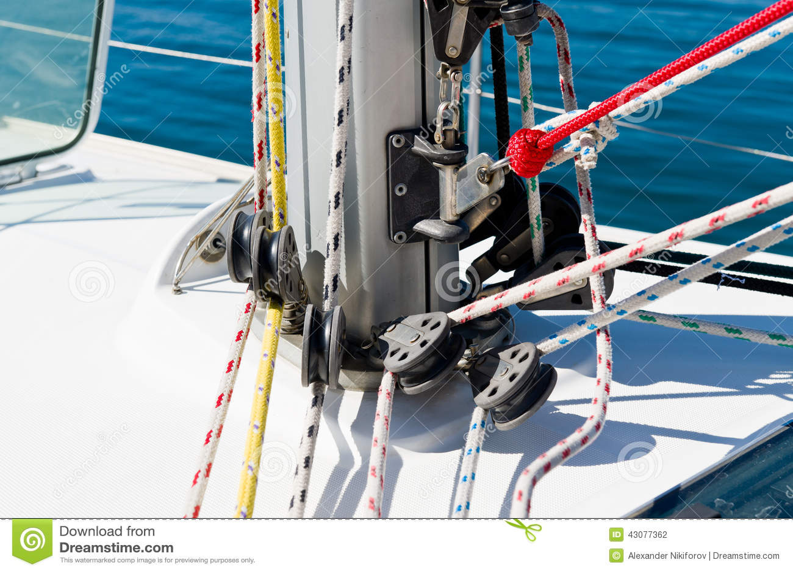 Sailing boat mast stock photo  Image of cord, maritime - 43077362