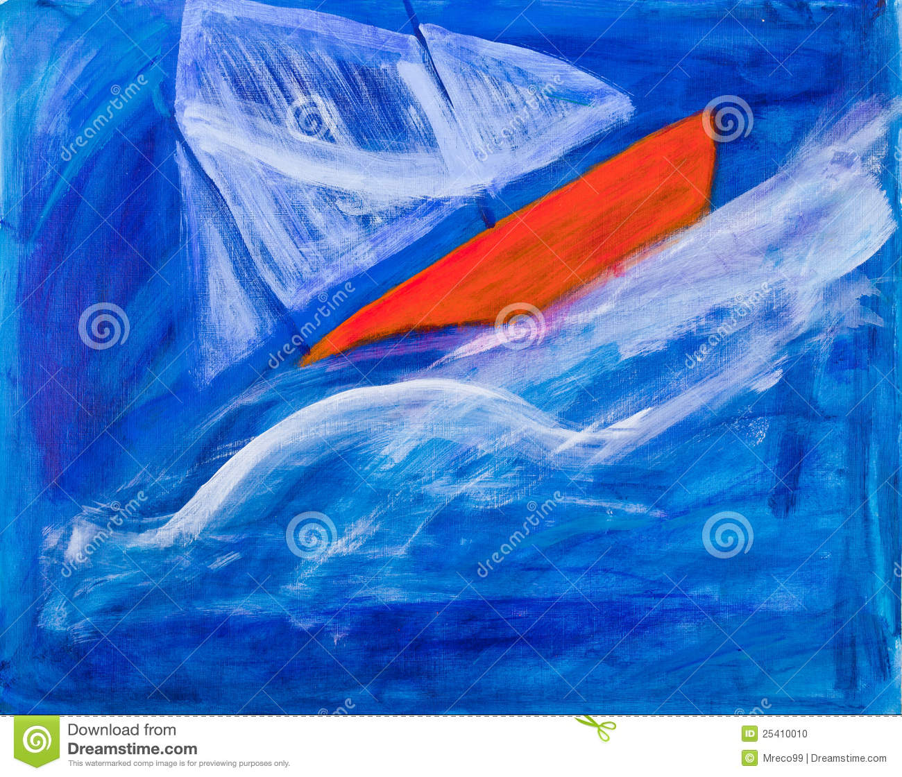 Sailing Boat Racing Painting By Kay Gale Stock Photo - Image: 25410010