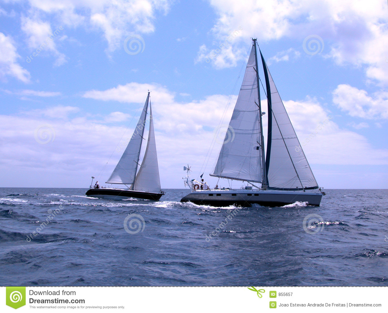 Sailing boats stock image. Image of wind, regattas ...