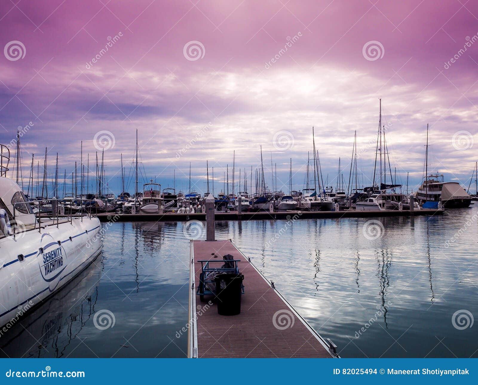 The sailing boats in Marina yacht club Pattaya