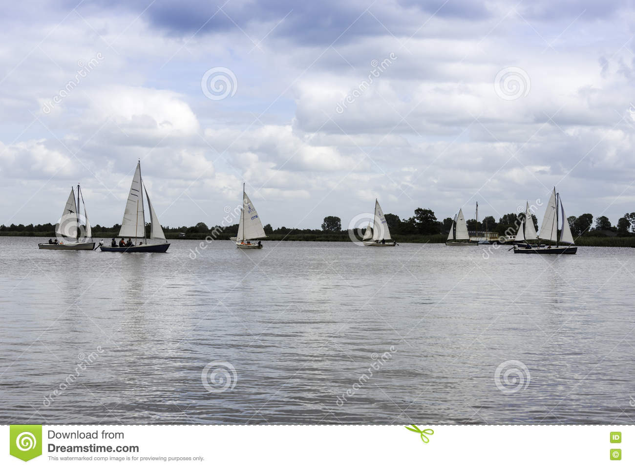 Sailing boats on the river editorial stock photo. Image of ...