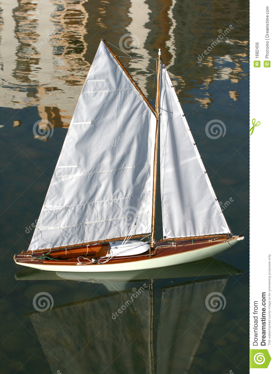 Sailing Model Boat III Royalty Free Stock Image - Image: 1682456