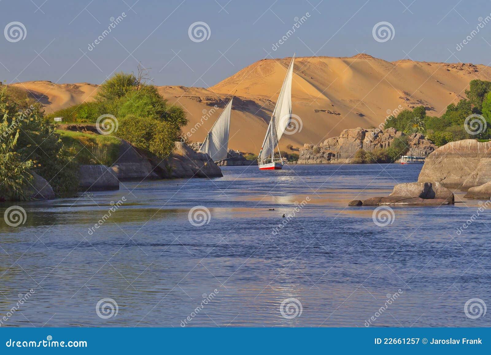 Sailing on the Nile. Gateway to Nubia ( Egypt)