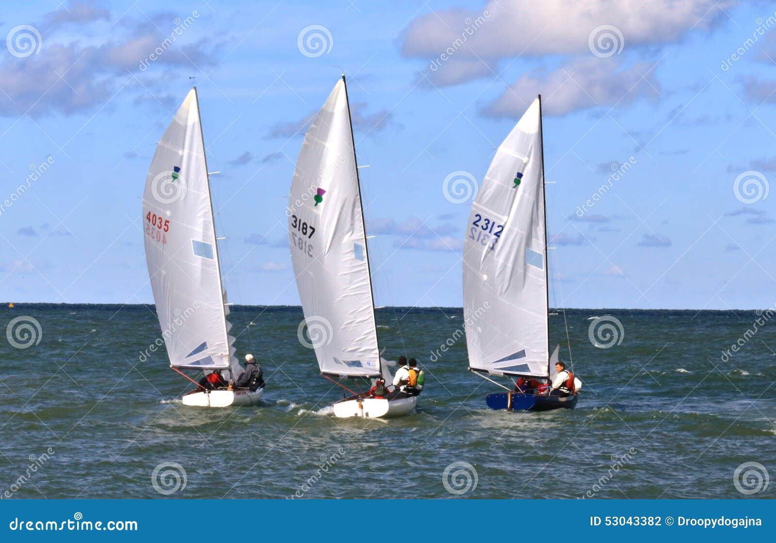 Sailing Regatta Race Action Editorial Photography Image