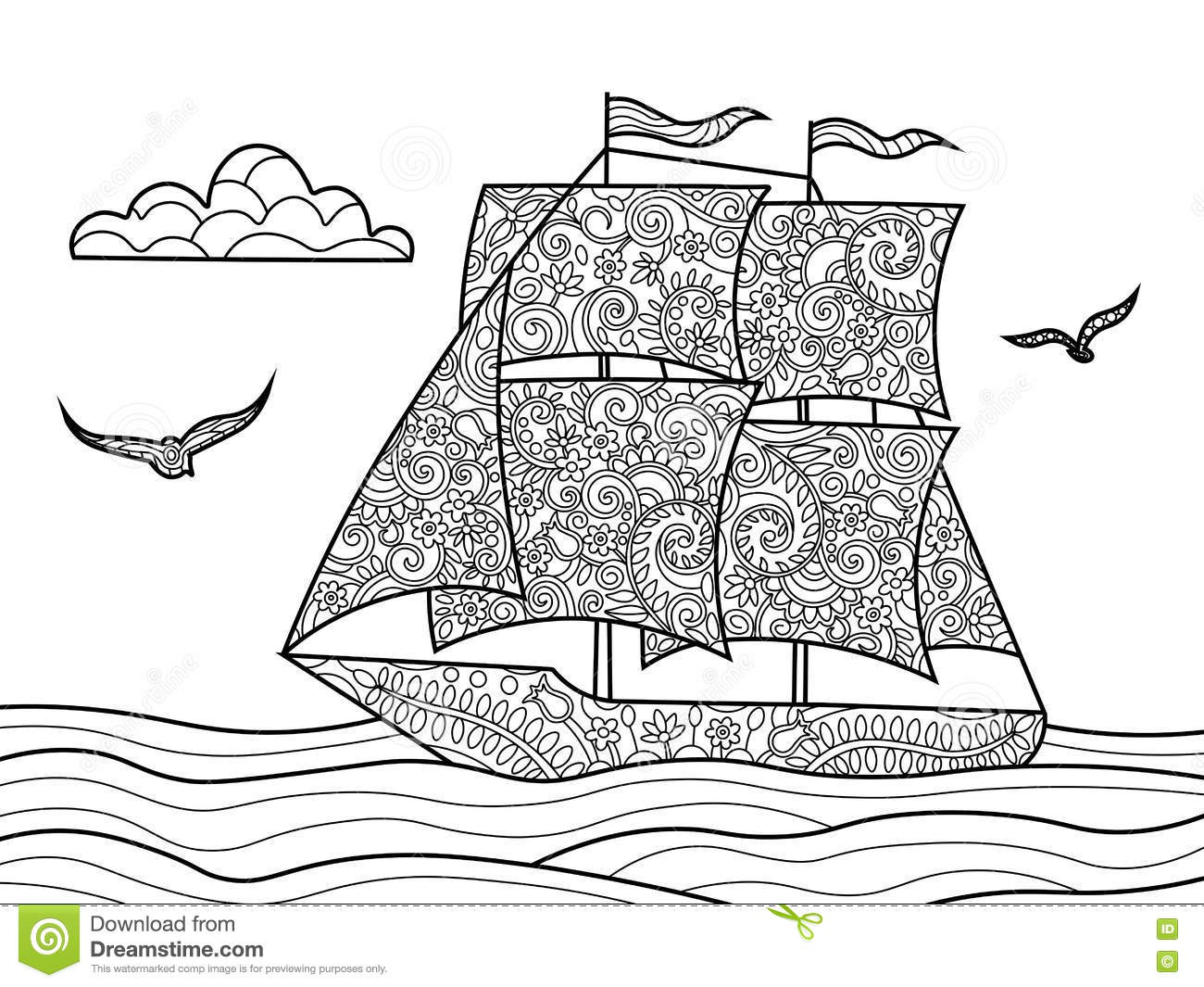 nautical coloring pages for adults - photo#29