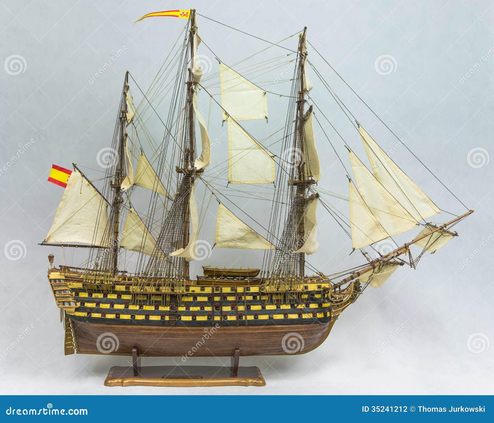 Sailing Ship Model Stock Photography - Image: 35241212