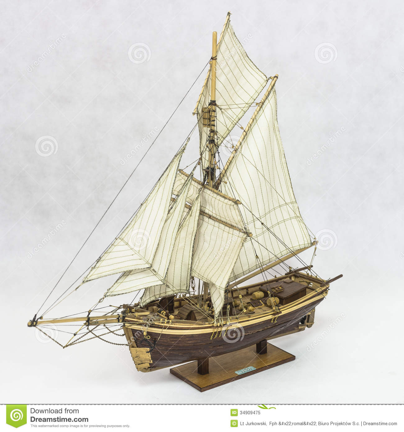 Sailing Ship Model Royalty Free Stock Photo - Image: 34909475