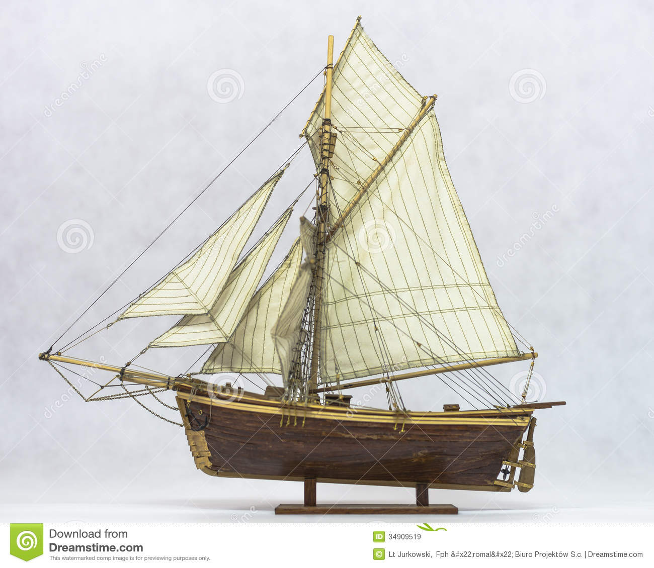 Sailing Ship Model Royalty Free Stock Images - Image: 34909519