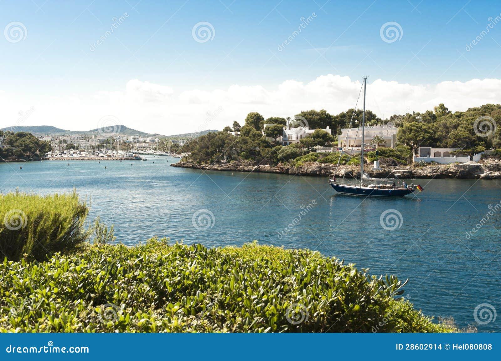 Sailing Ship reaches Harbour in Majorca