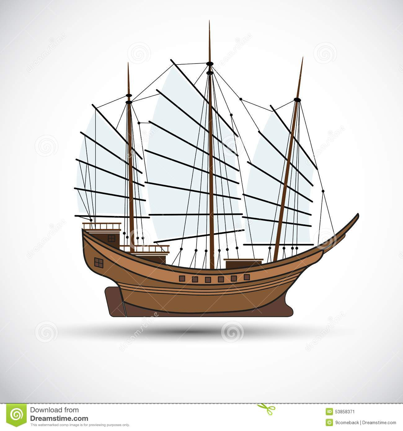 Sailing Ship Stock Vector - Image: 53858371