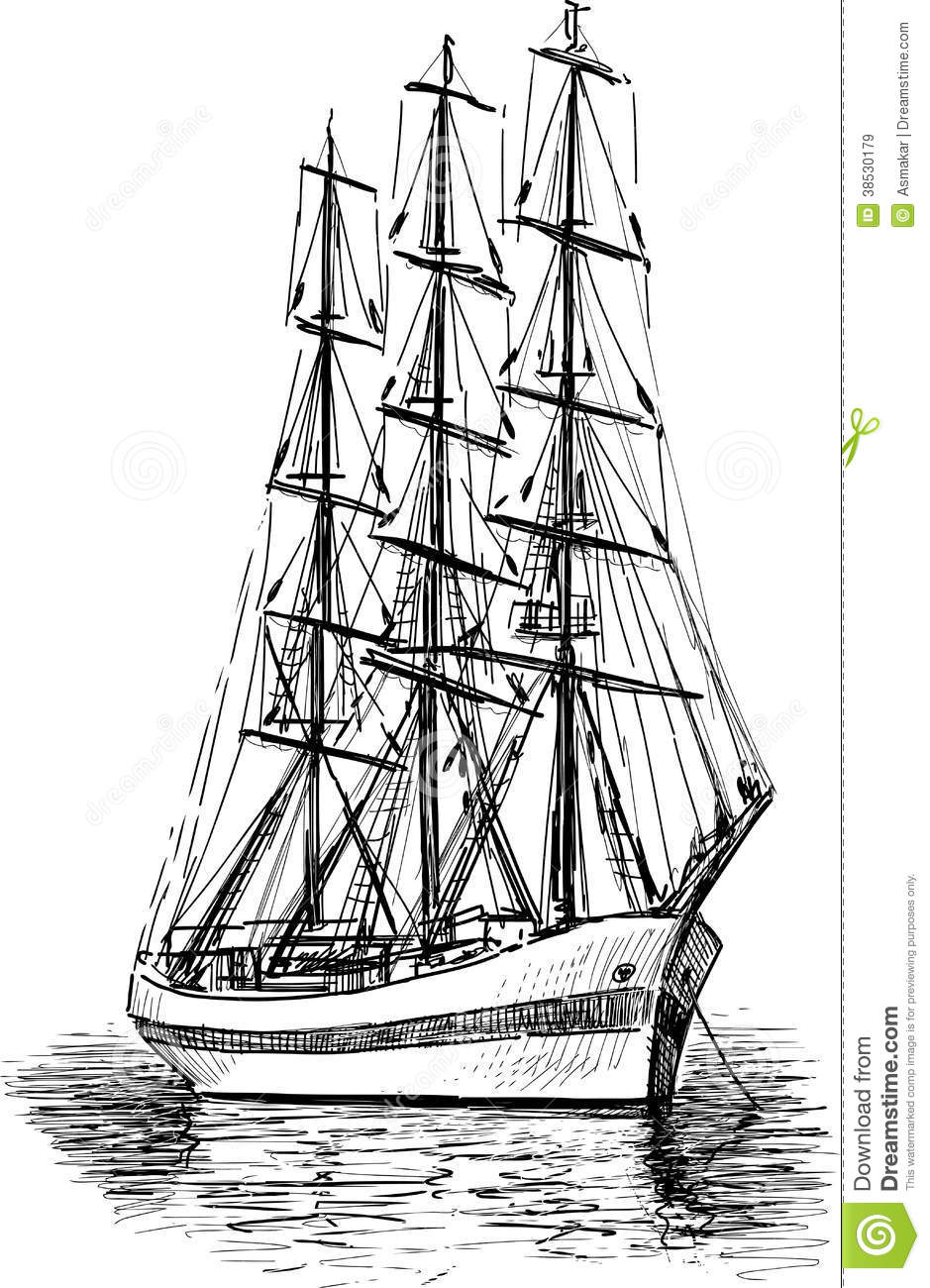 Sailing Ship Royalty Free Stock Images - Image: 38530179