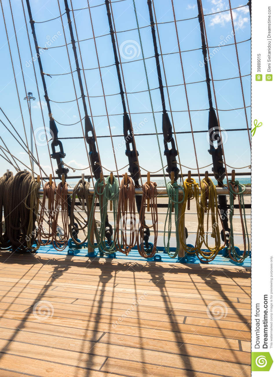 Sailing vessel stock image. Image of rope, shipping, ocean - 39889015