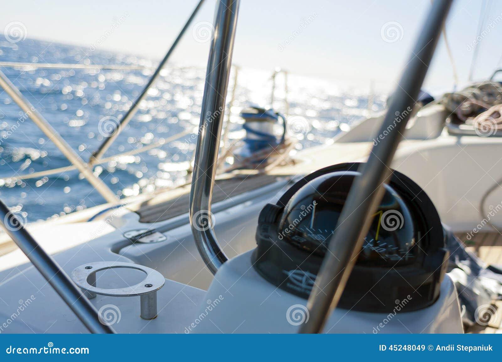 Sailing Yacht Compass Stock Photo - Image: 45248049