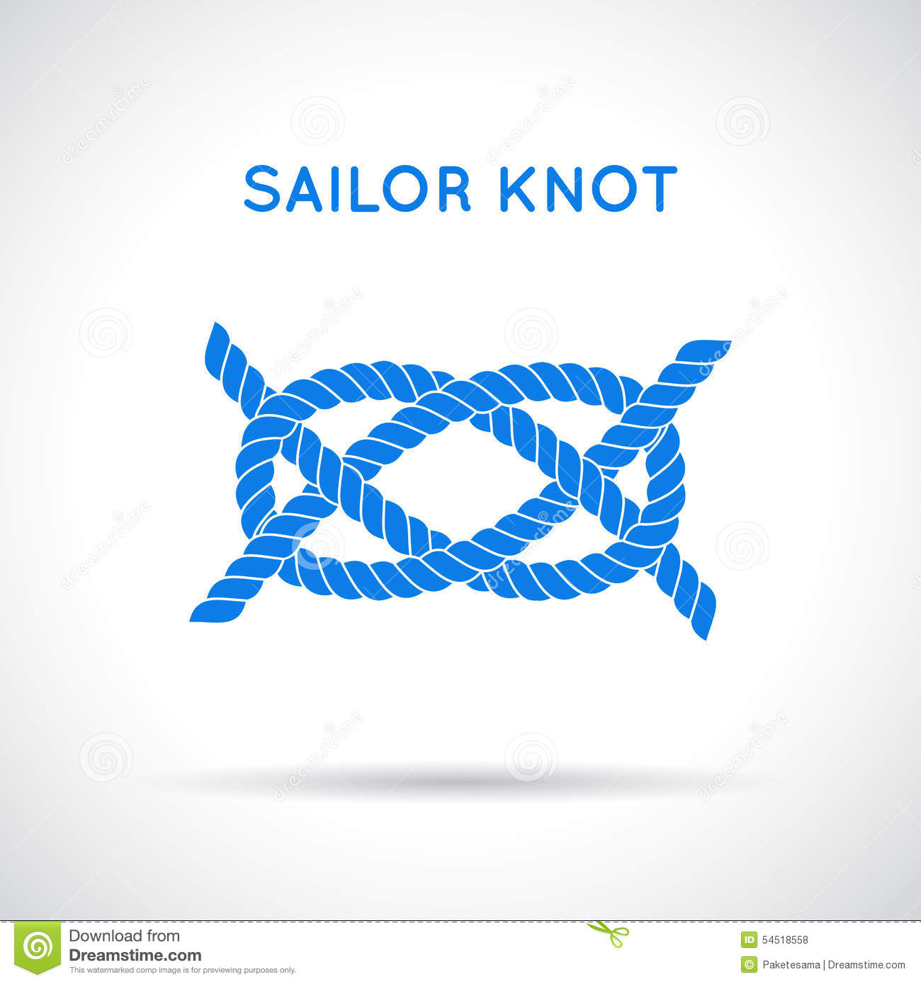 Sailor Knot Stock Vector - Image: 54518558
