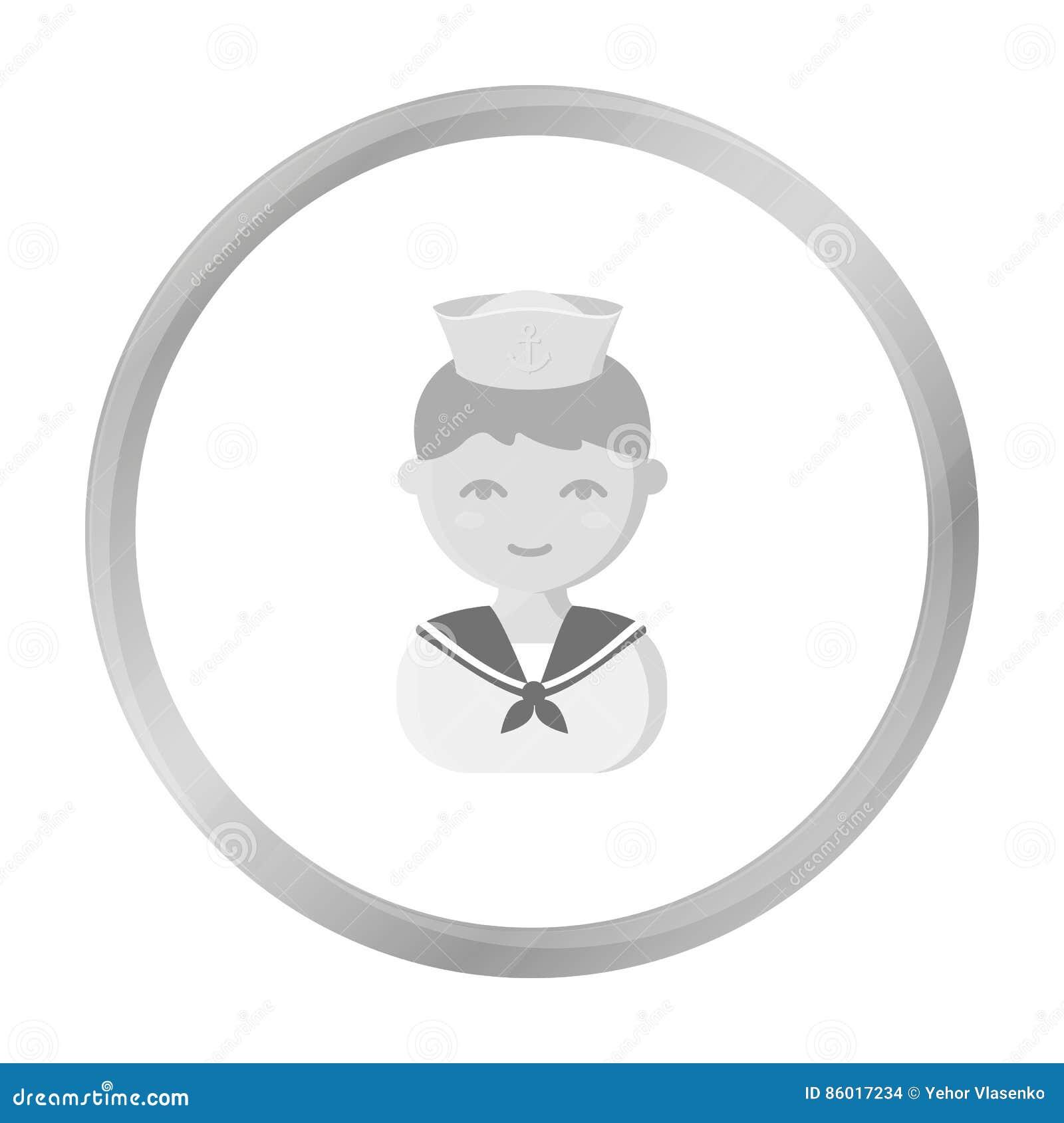 Sailor Monochrome Icon. Illustration For Web And Mobile ...