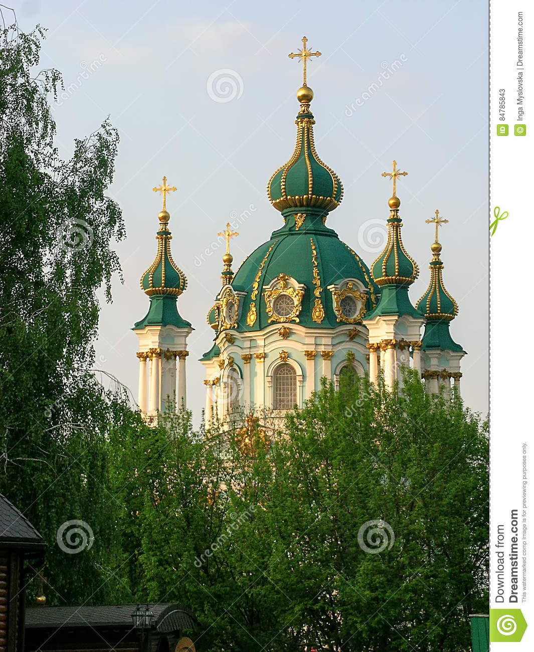 Saint Andrew`s church Kiev Ukraine