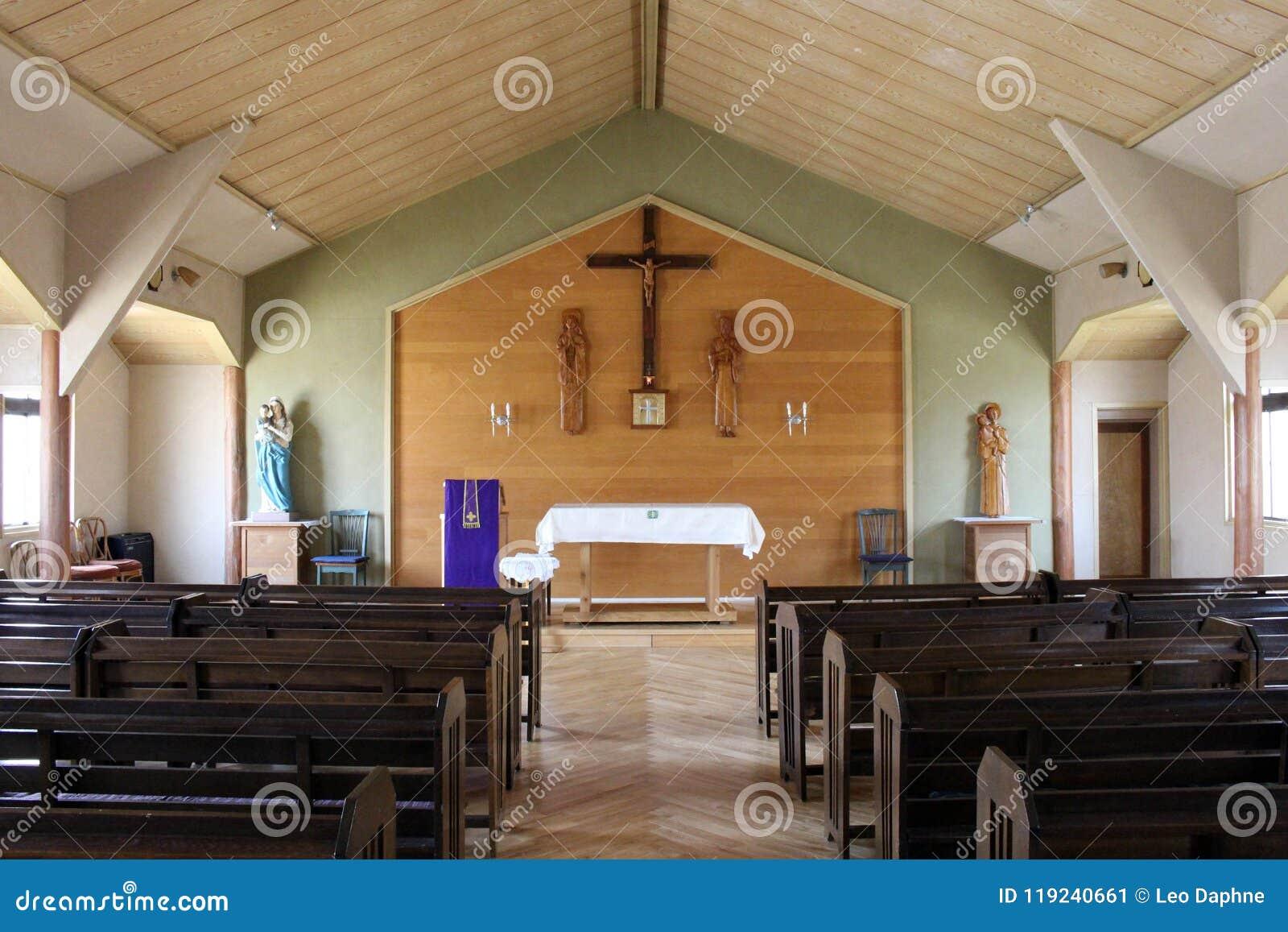 `Saint Anthony` Catholic Church in Nikko. A simple wooden church. Taken in Nikko,