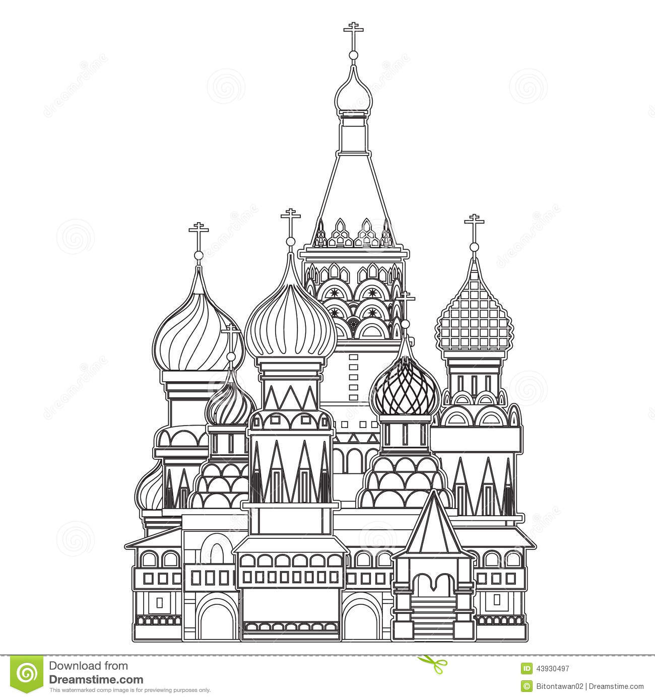 Parsley Illustration Saint Basil Cathedral ...