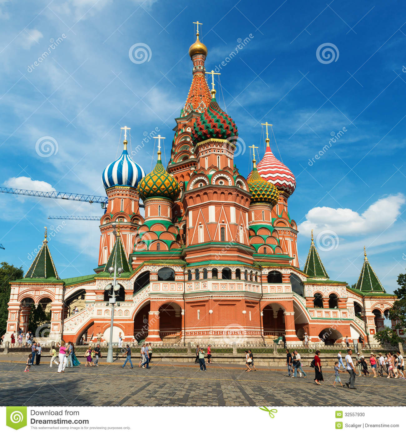 Saint Basil Cathedral On The Red Square In Moscow, Russia. (Pokr ...