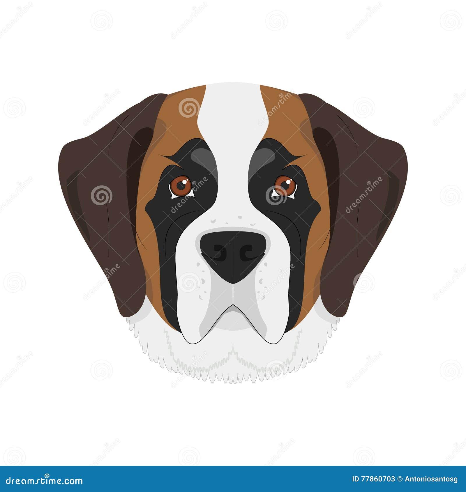 SAINT BERNARD DOGS HEAD STUDY LOVELY DOG GREETINGS NOTE CARD