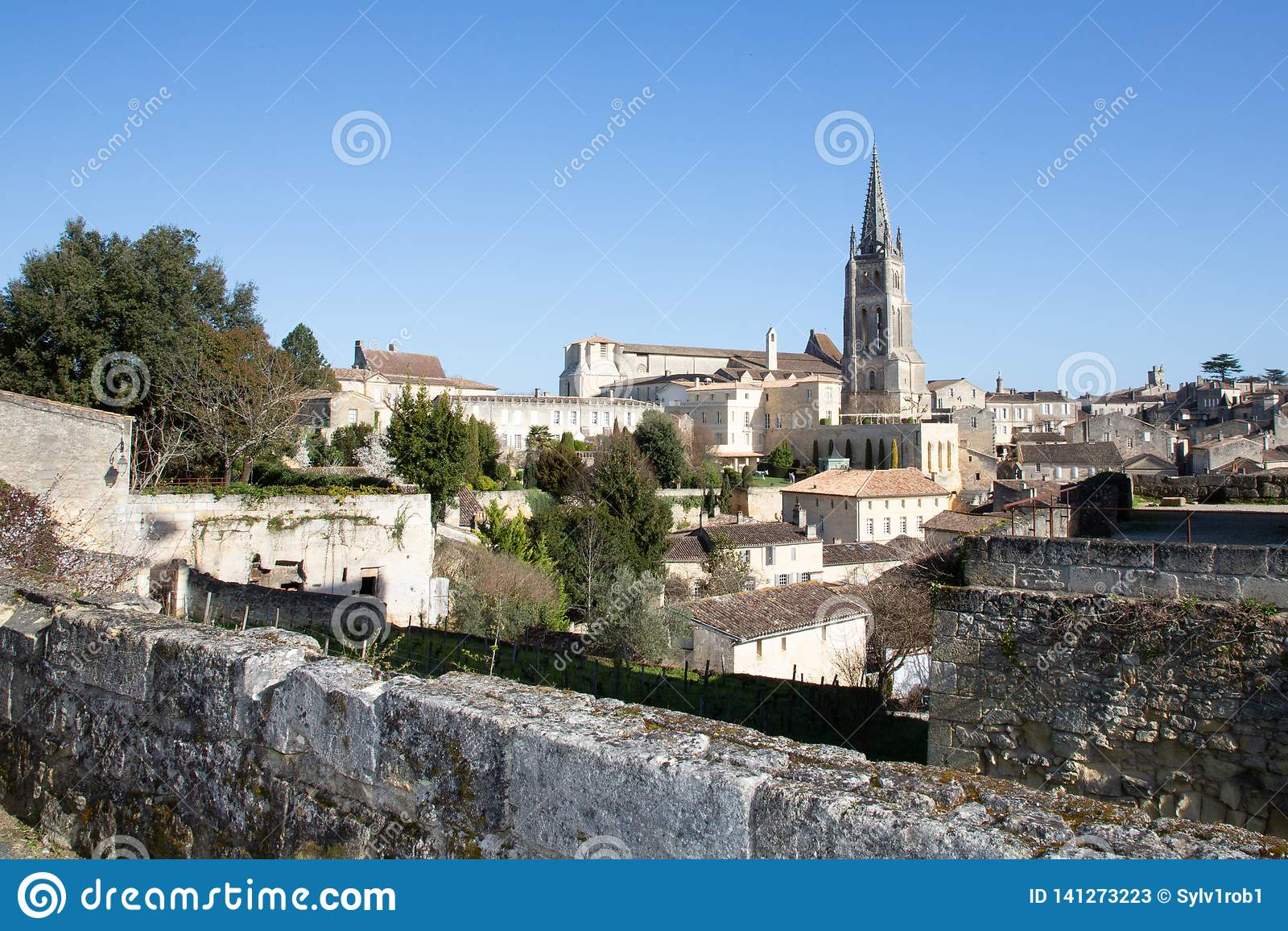 Saint Emilion, Gironde-Aquitaine / France - 03 05 2019 ...