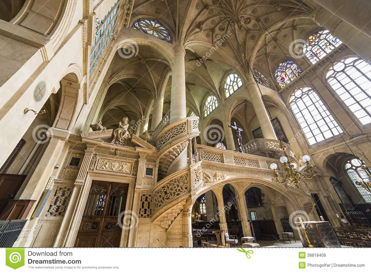saint etienne du mont church paris france stock photo image 39818409. Black Bedroom Furniture Sets. Home Design Ideas