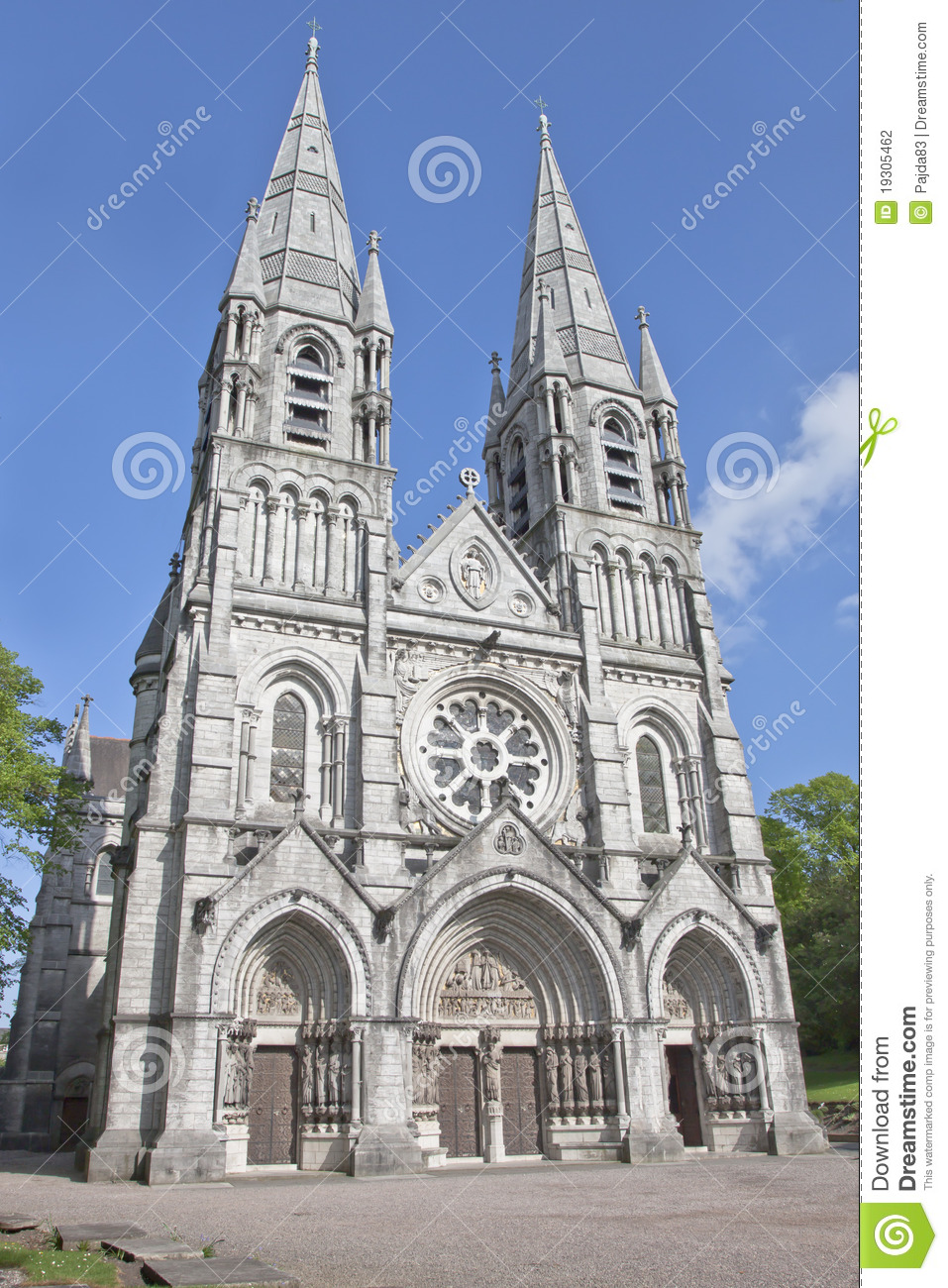 Saint Fin Barres Cathedral In Cork Ireland Stock Photo