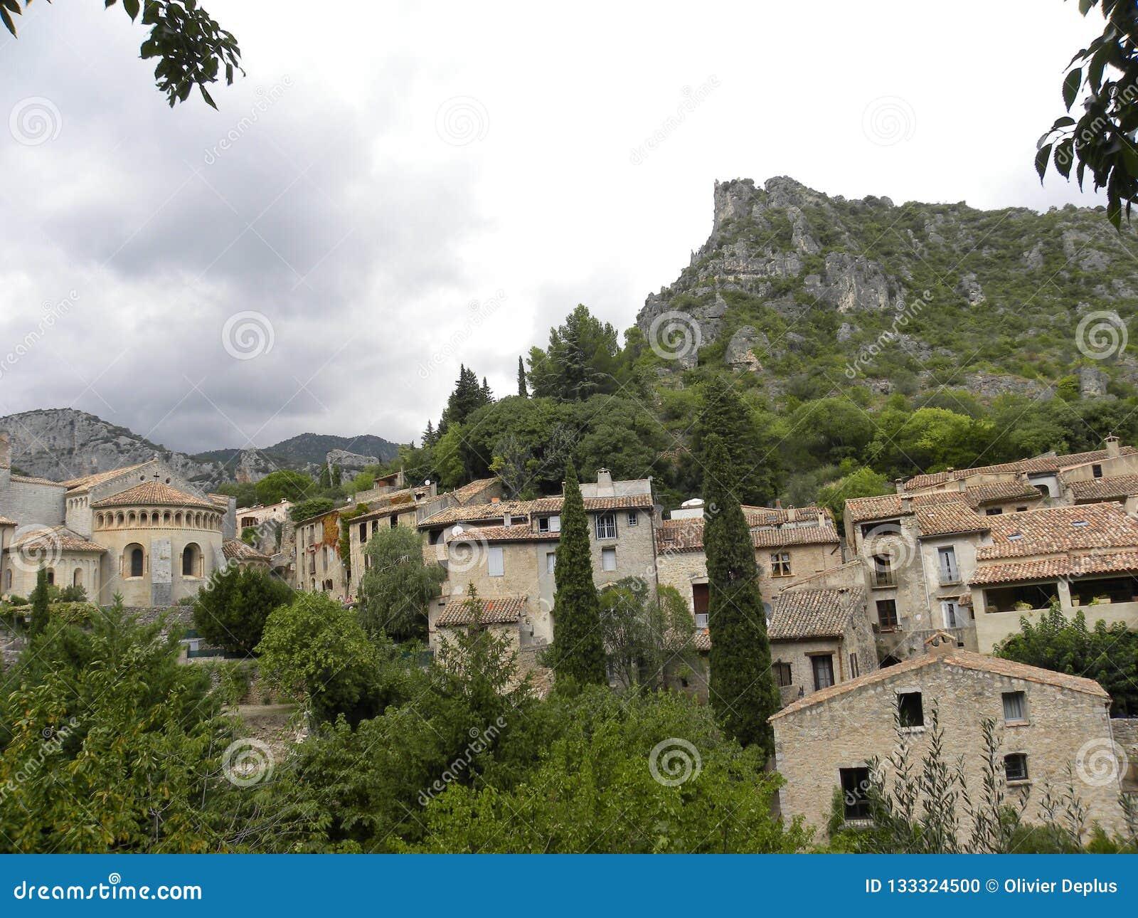 Saint-guilhem-le-desert, a village in herault, languedoc, france