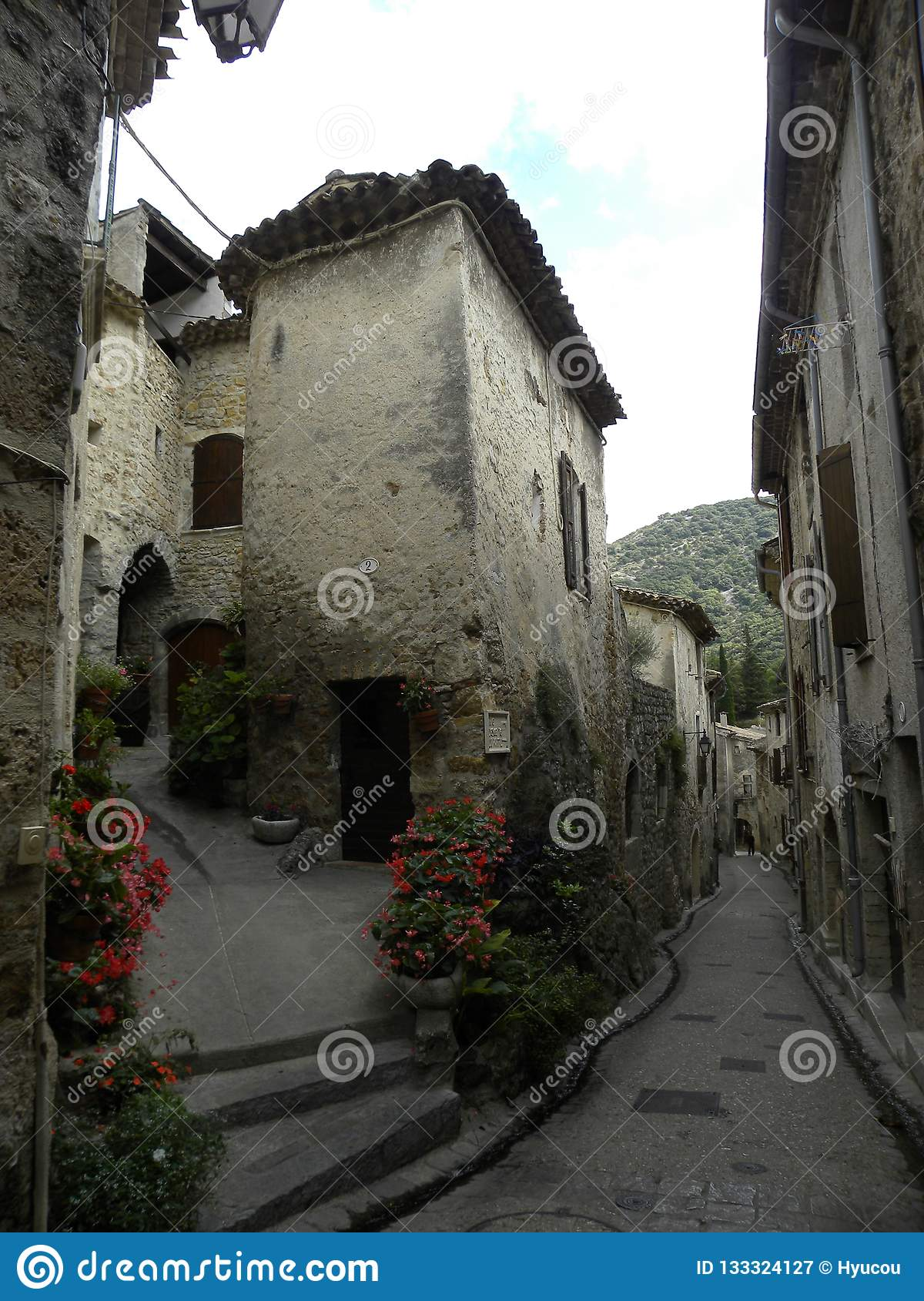 Saint-guilhem-le-desert, a village in herault, languedoc, france