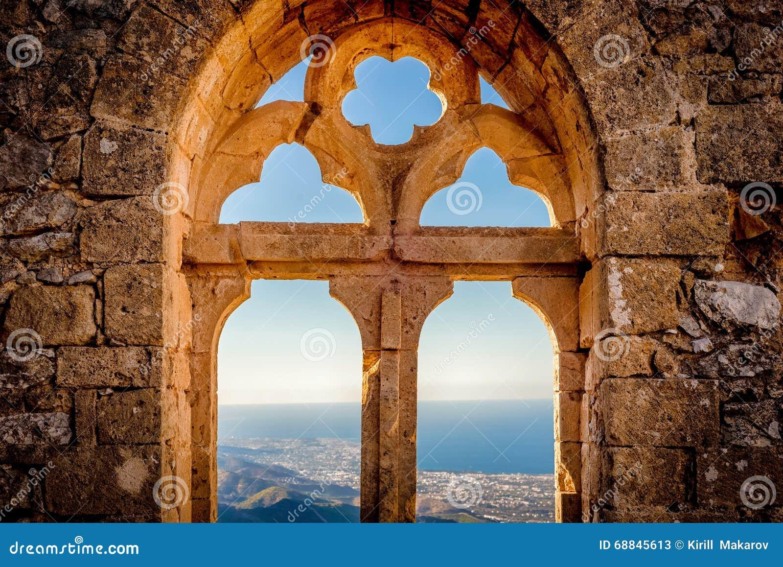 Saint Hilarion Castle, Queen s window. Kyrenia District, Cyprus
