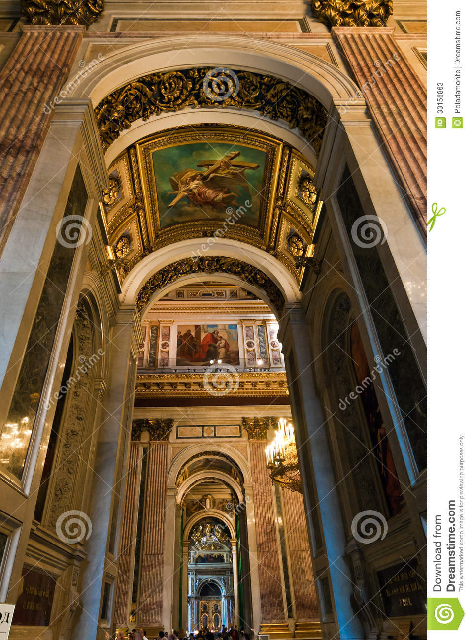 Saint Isaac Cathedral St Petersburg Russia Editorial