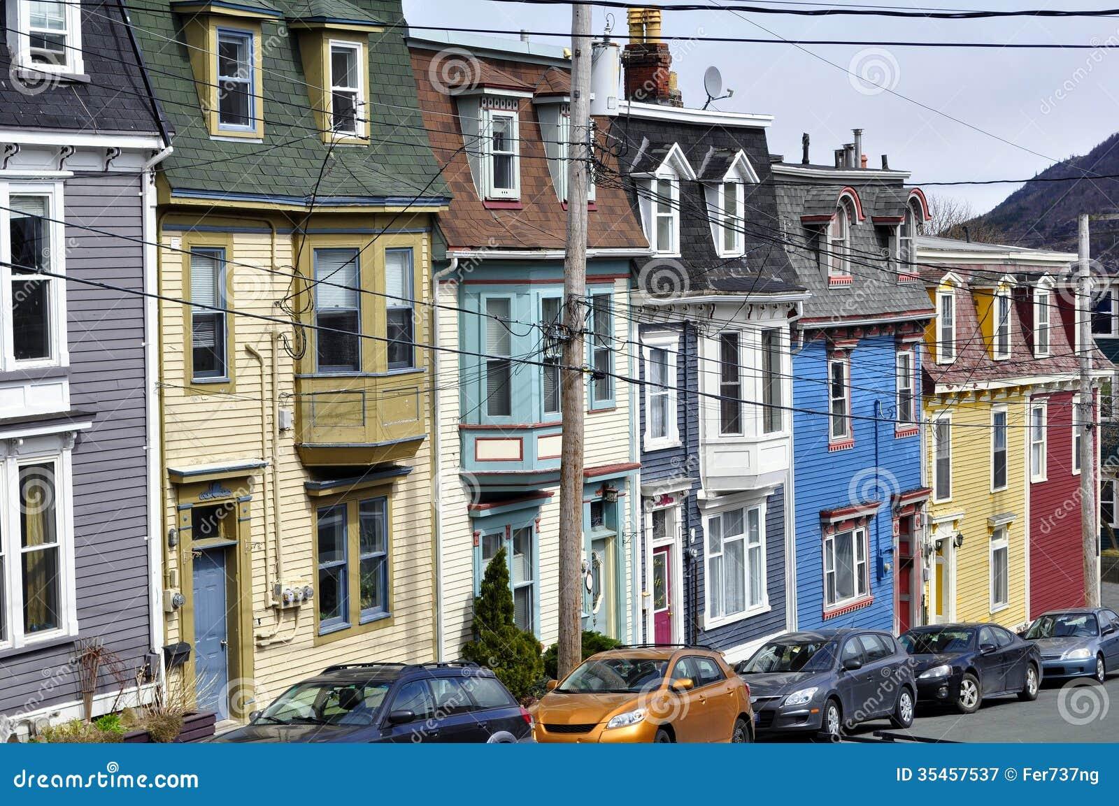 Saint john 39 s newfoundland stock image image 35457537 for Newfoundland houses