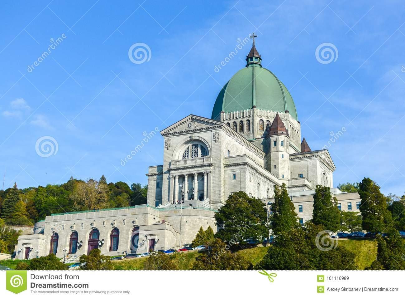 Saint Joseph`s Oratory of Mount Royal located in Montreal