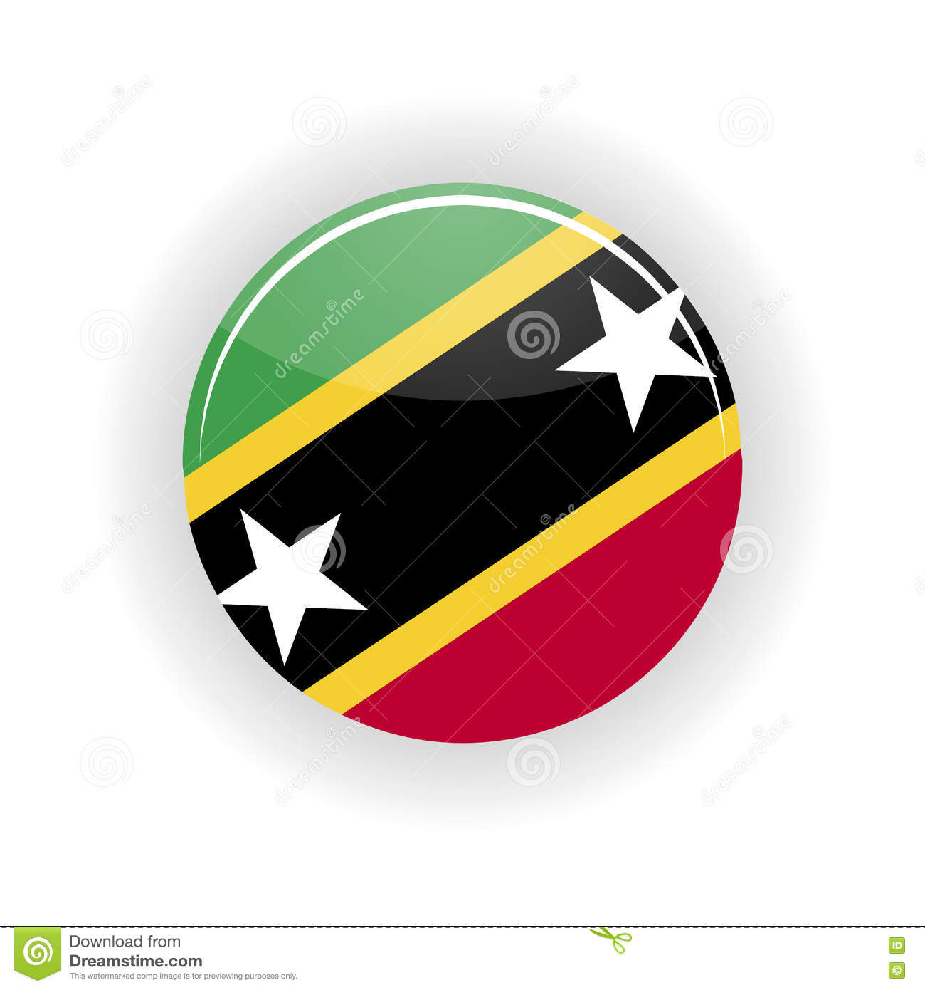 saint kitts and nevis icon circle stock vector illustration of