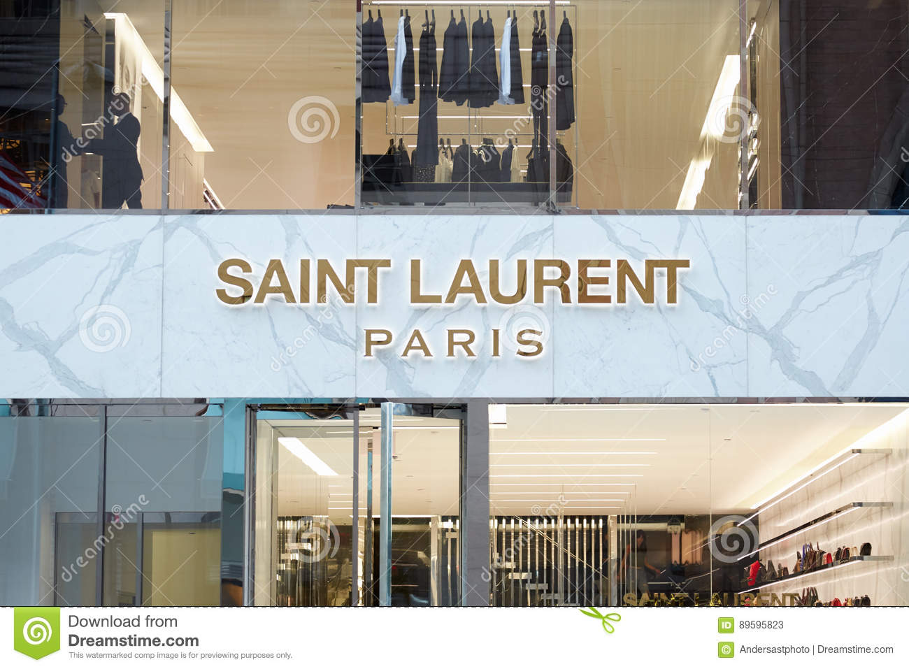 f1052f36e39f4 NEW YORK - SEPTEMBER 12: Saint Laurent store exterior view in 57 Street,  Soho in a sunny day on September 12, 2016 in New York. Yves Saint Laurent  YSL is a ...