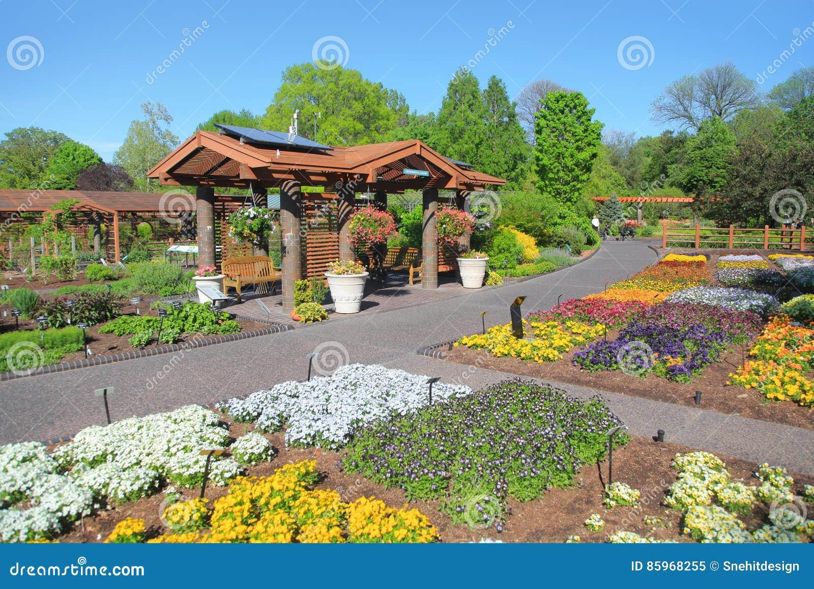Saint Louis Botanical Gardens Editorial Image Image Of English