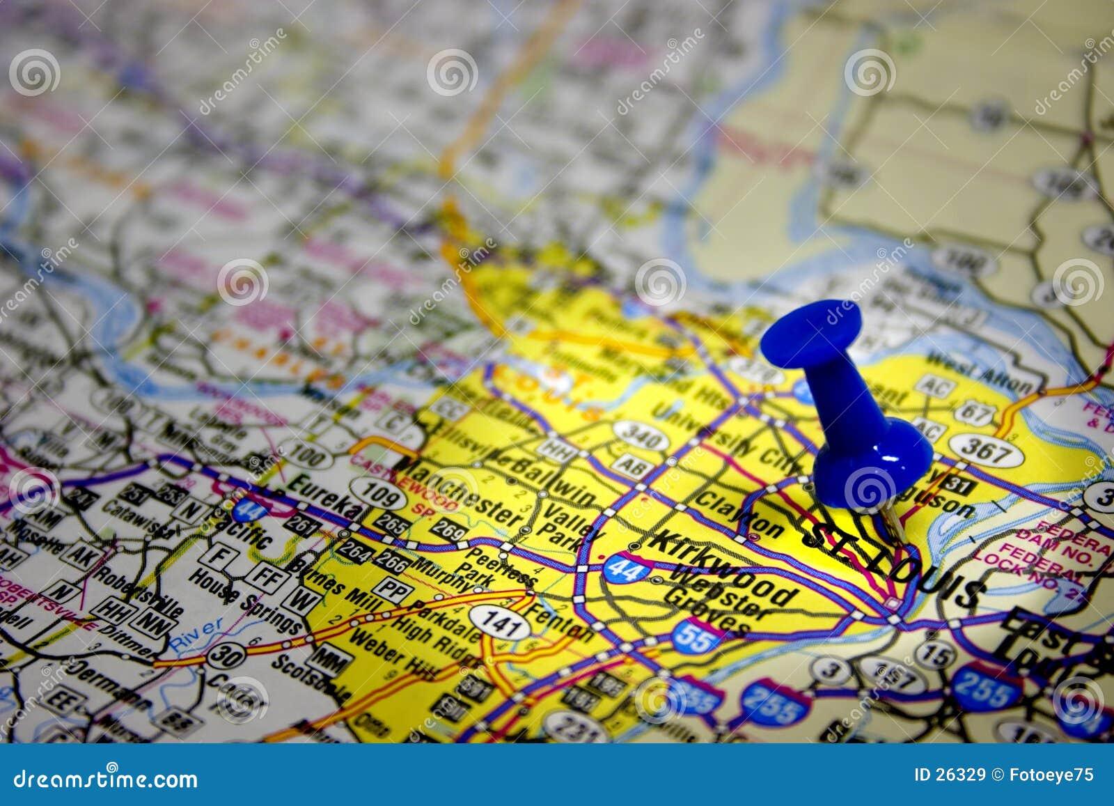 Saint louis mapy w Missouri.