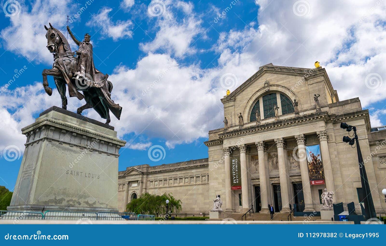 Saint Louis Equestrian Statue and Saint Louis Art Museum