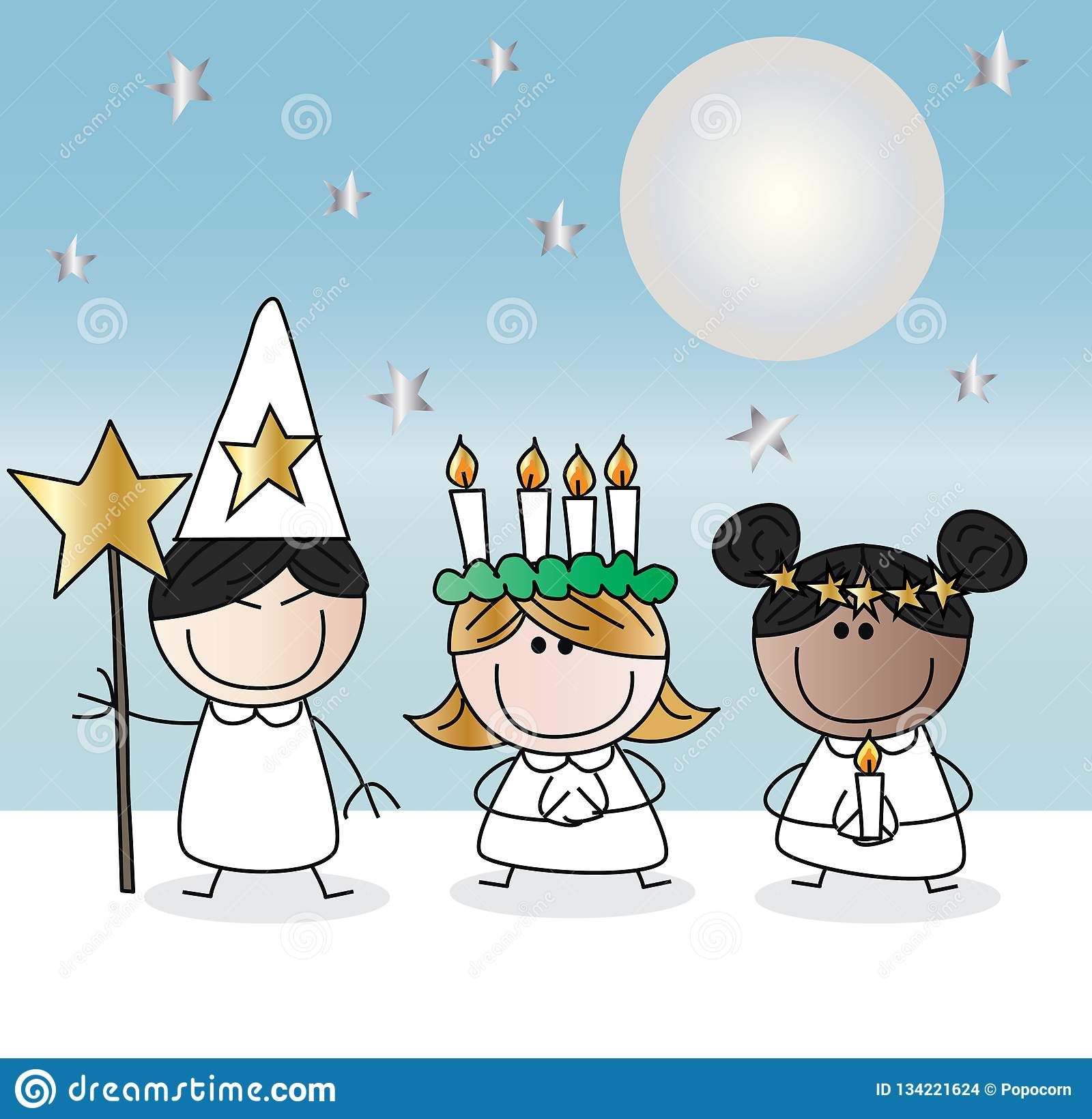 Saint lucy ou Natal de Lucia do sankta