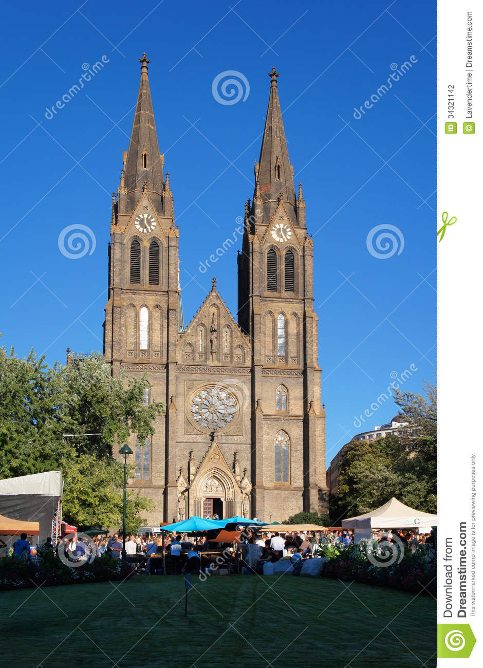 Saint ludmila church on namesti miru square prague czech for Where is prague near