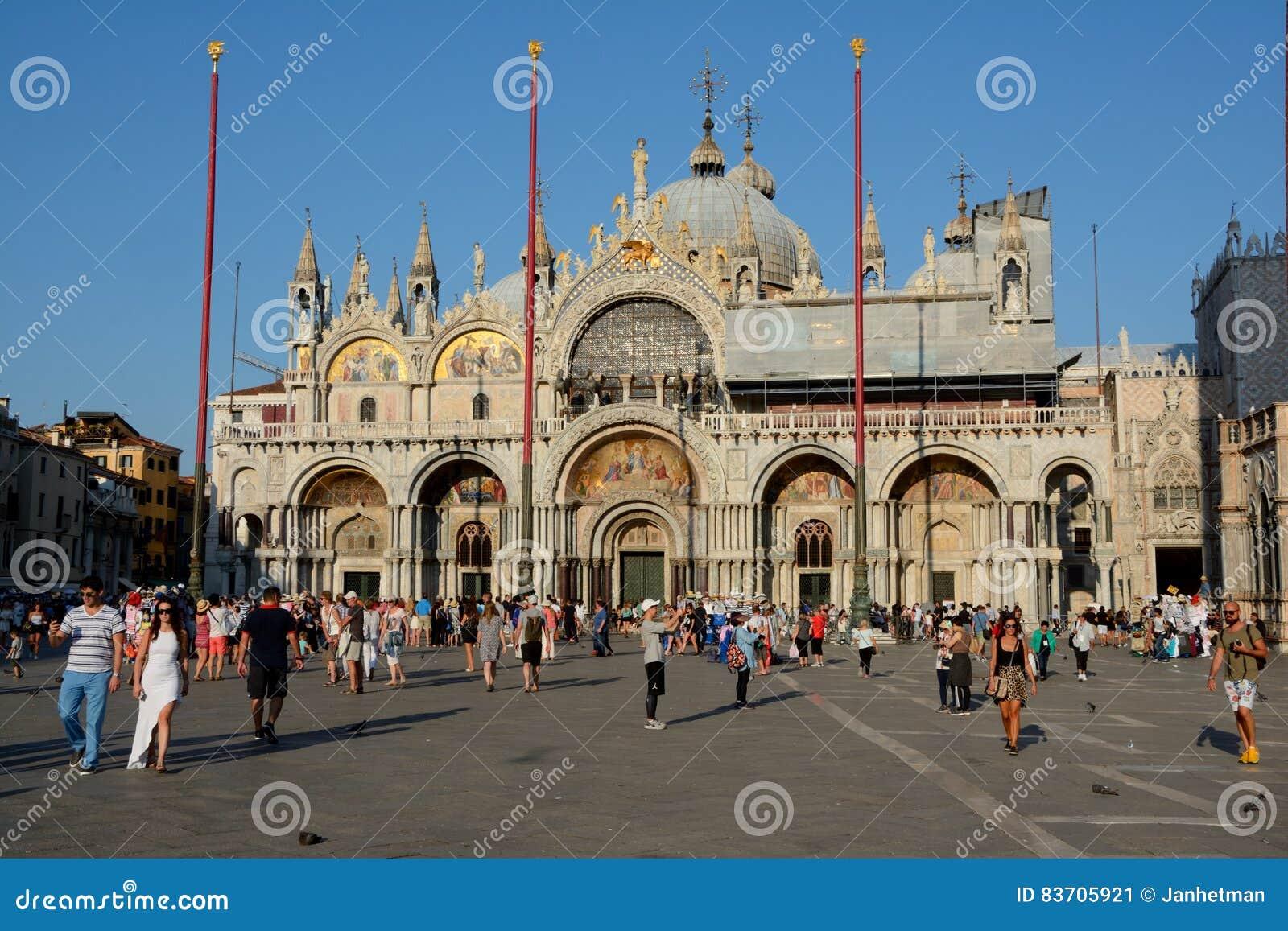Saint Mark`s Basilica In Venice, Italy Editorial Photo