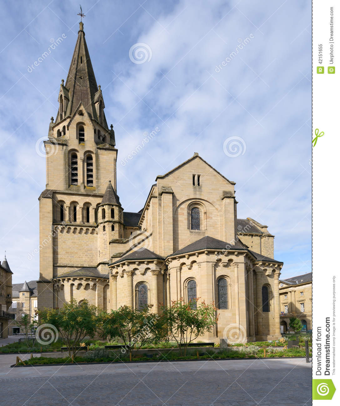 saint martin church in brive la gaillarde france editorial image image of saint vertical. Black Bedroom Furniture Sets. Home Design Ideas