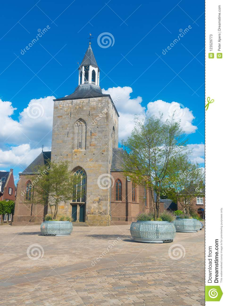 Download Saint Pancratius Basilica In Tubbergen, The Netherlands Stock Image - Image of tubbergen, pancratius: 123529773