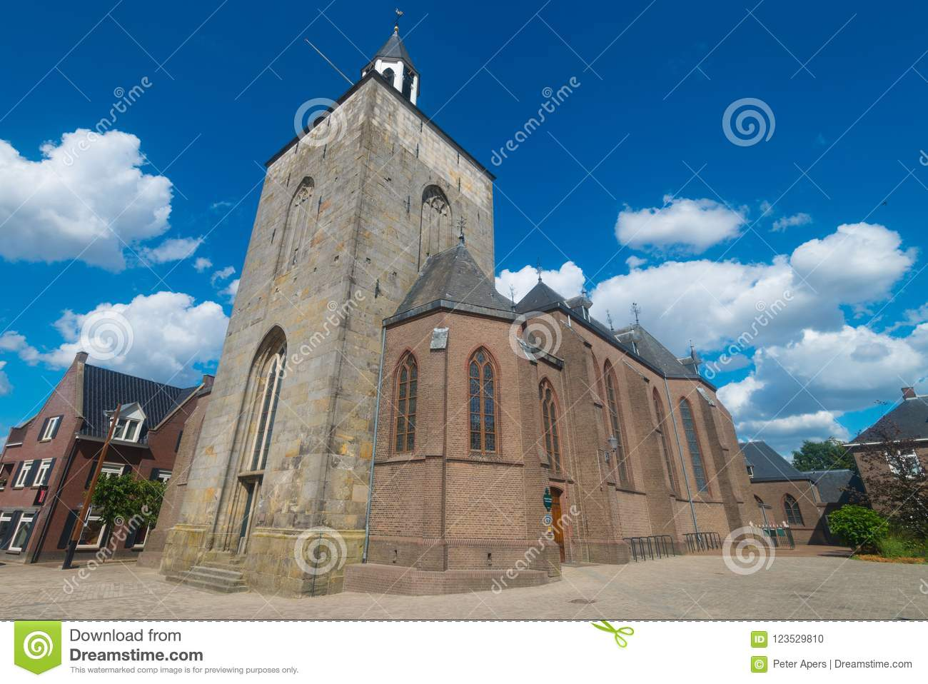 Download Saint Pancratius Basilica In Tubbergen, The Netherlands Stock Photo - Image of eastern, lovely: 123529810