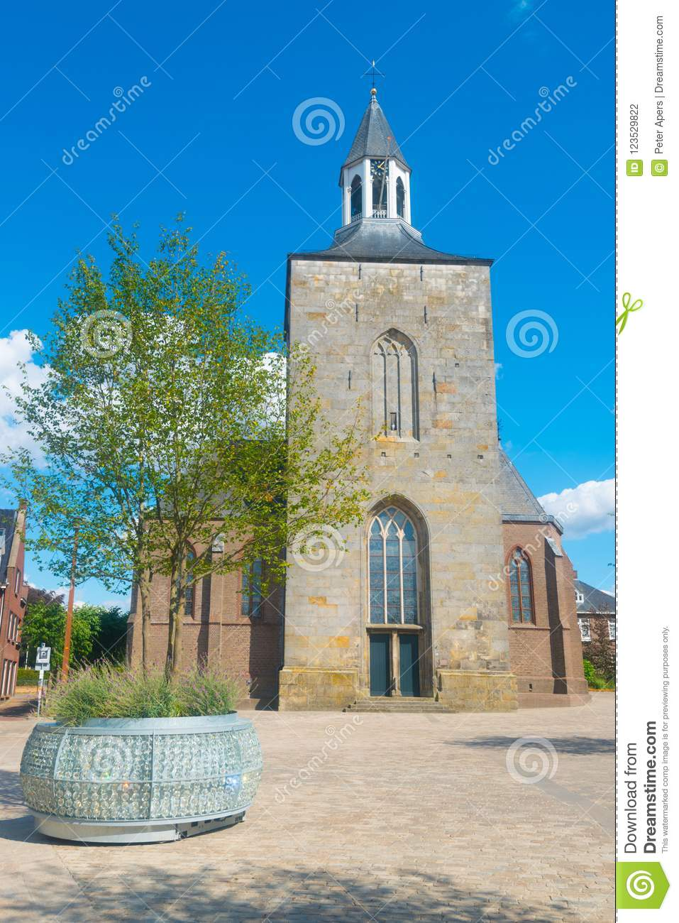 Download Saint Pancratius Basilica In Tubbergen, The Netherlands Stock Photo - Image of pancratius, white: 123529822