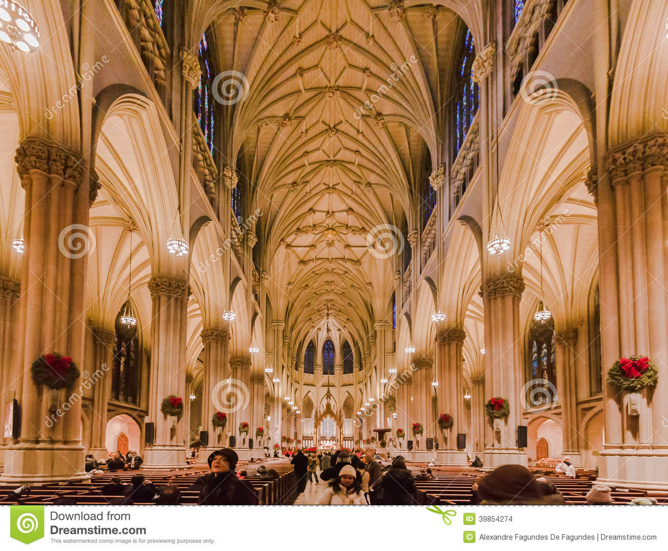 Lovely Long Island City Church #2: Saint-patrick-cathedral-new-york-city-main-nave-its-long-columns-arches-fifth-avenue-manhattan-island-united-39854274.jpg