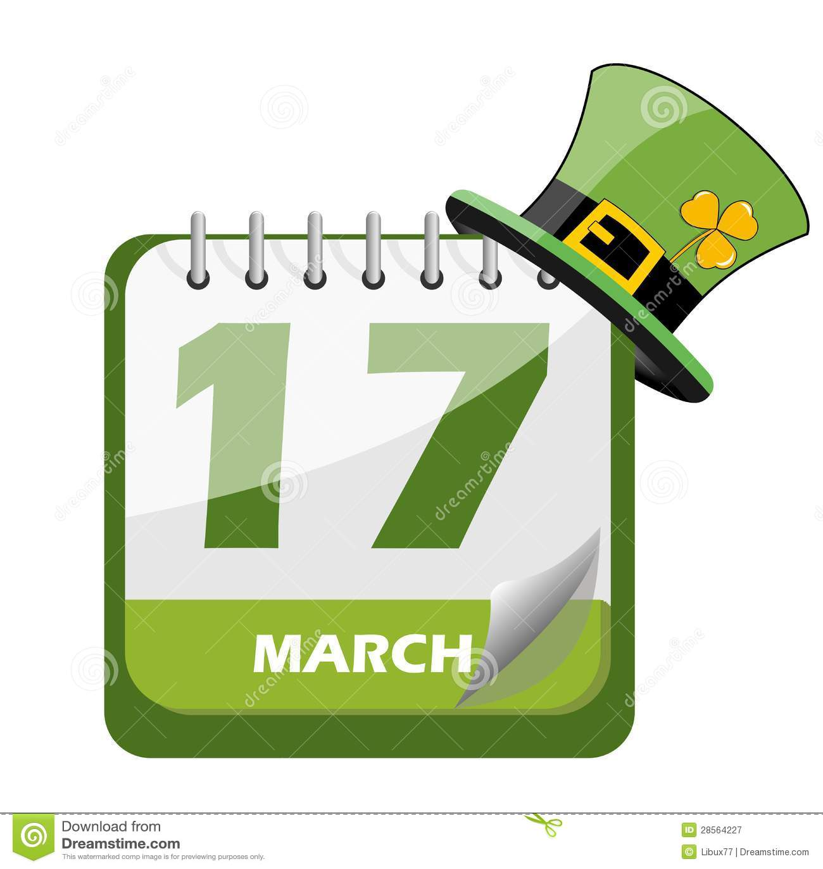 Saint Patrick S Day Calendar Stock Vector - Illustration of patrick, beer: 28564227