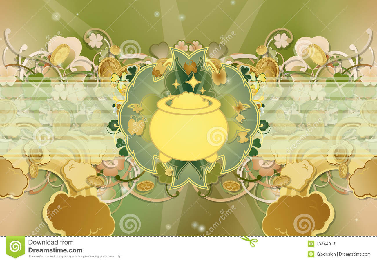 Pot of gold coins clipart