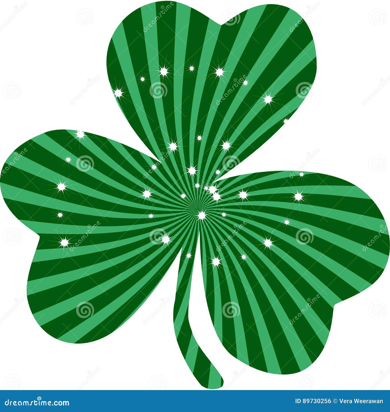 Saint Patrick`s Day Green Clover Clip Art