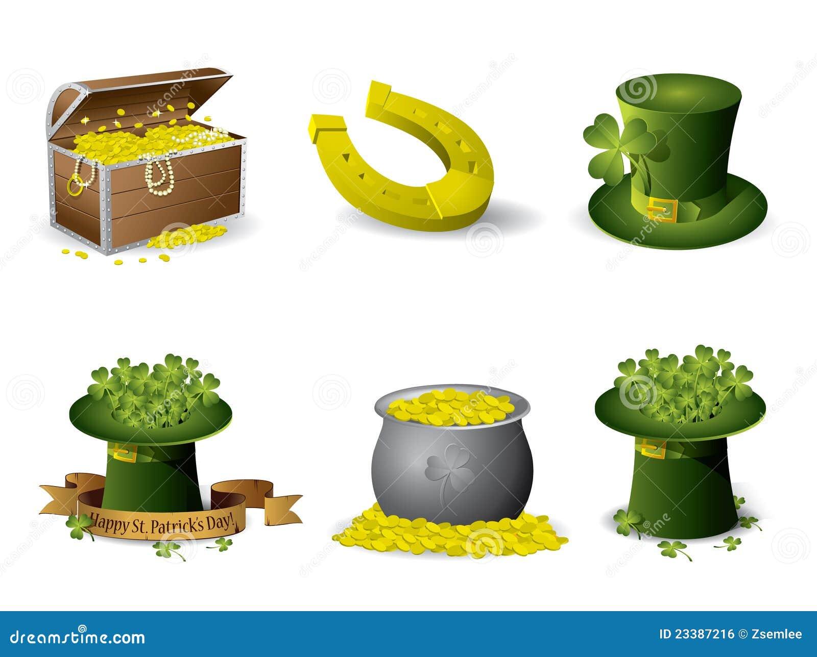 Saint patricks day symbols stock vector illustration of foliage saint patrick s day symbols biocorpaavc